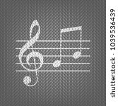 music violin clef sign. g clef... | Shutterstock .eps vector #1039536439