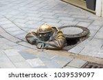 Street Sculpture In City...