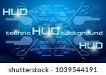 hud blue technology background  ...