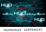 hud techno background with...