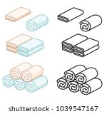 set of towel soft color vector... | Shutterstock .eps vector #1039547167