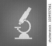 chemistry microscope sign for... | Shutterstock .eps vector #1039557061