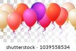 realistic helium balloons... | Shutterstock .eps vector #1039558534
