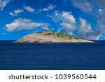 isolated rocky island kornati... | Shutterstock . vector #1039560544