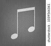 music sign illustration. vector.... | Shutterstock .eps vector #1039566361