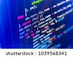 abstract screen of software.... | Shutterstock . vector #1039568341