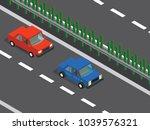 cars in the highway  | Shutterstock .eps vector #1039576321