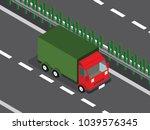 truck in the highway  | Shutterstock .eps vector #1039576345