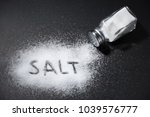 the word salt written into a... | Shutterstock . vector #1039576777