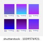 universal vector gradient set.... | Shutterstock .eps vector #1039576921