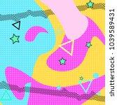 memphis pattern of geometric... | Shutterstock .eps vector #1039589431