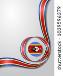 swaziland flag wavy abstract... | Shutterstock .eps vector #1039596379