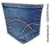 jeans rear pocket with curly...   Shutterstock . vector #1039597441