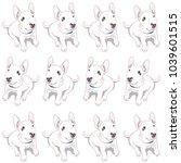 dog  dog pattern bull terrier... | Shutterstock . vector #1039601515