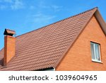 close up on brick house metal ... | Shutterstock . vector #1039604965
