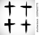 grunge religion cross . black... | Shutterstock .eps vector #1039605775