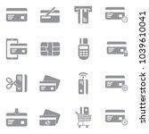 credit card icons. gray flat...