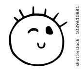 line emoticons icon wink ... | Shutterstock .eps vector #1039610881