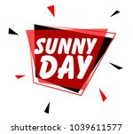 sunny day  sign with red label | Shutterstock .eps vector #1039611577