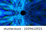 abstract speed tunnel warp ... | Shutterstock . vector #1039613521