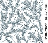 natural seamless pattern with... | Shutterstock . vector #1039616401