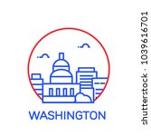 washington city icon. vector... | Shutterstock .eps vector #1039616701