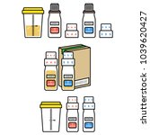 doping control sets. empty...   Shutterstock .eps vector #1039620427