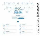 workshop concept  man with...   Shutterstock .eps vector #1039620535