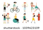 kids sports activity collection.... | Shutterstock . vector #1039623109