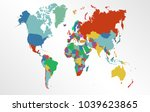 world map vector. | Shutterstock .eps vector #1039623865