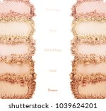 face powder. smears of... | Shutterstock . vector #1039624201