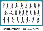 collection set of walking and... | Shutterstock .eps vector #1039626391