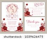 vector set of invitation cards... | Shutterstock .eps vector #1039626475