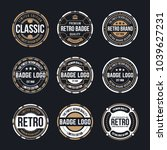 circle vintage and retro badge... | Shutterstock .eps vector #1039627231