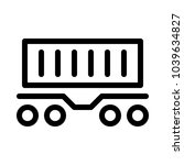 container railcar   freight... | Shutterstock .eps vector #1039634827