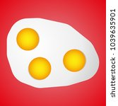 it shows a fried egg of three... | Shutterstock .eps vector #1039635901