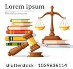 concept justice in cartoon... | Shutterstock .eps vector #1039636114