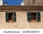 window boxes with colorful... | Shutterstock . vector #1039636915