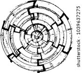 abstract grunge grid stripe... | Shutterstock .eps vector #1039637275