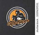 old school motorcycle round... | Shutterstock .eps vector #1039639531
