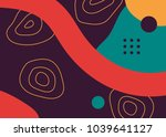colorful pop art geometric... | Shutterstock .eps vector #1039641127