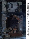 Small photo of Old ruined fireplace
