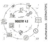 industry 4.0 concept | Shutterstock .eps vector #1039647091
