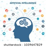 concept of artificial... | Shutterstock .eps vector #1039647829