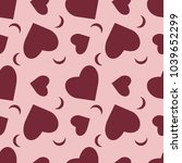 hearts moon seamless pattern... | Shutterstock .eps vector #1039652299