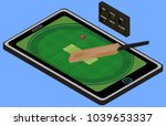 infographic cricket playground  ... | Shutterstock .eps vector #1039653337