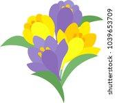 the illustration of crocuses | Shutterstock .eps vector #1039653709