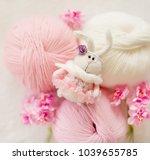 Handmade Knitted Rabbit. Easte...