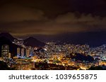 night view of the top of the... | Shutterstock . vector #1039655875