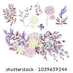 watercolor illustration. ... | Shutterstock . vector #1039659244